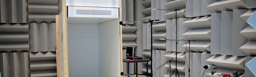 Sound-measuring laboratory at Kampmann's Research & Development Center in Lingen
